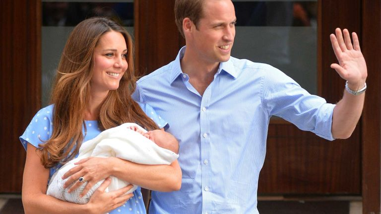 William, Kate show royal baby