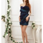 blue christmas party dress