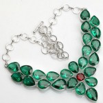 christmas necklace in green color