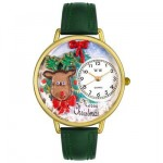 christmas watches made with leather