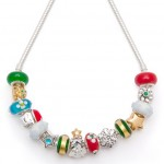 colorful christmas necklace