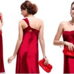 dark red christmas party dress