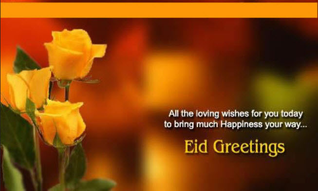 eid greetings quotes Card with messages and Quotes