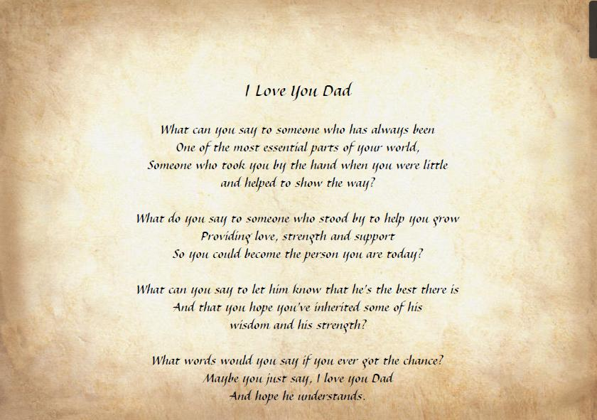 Father S Day Poems Video Amp Pictures Gallery