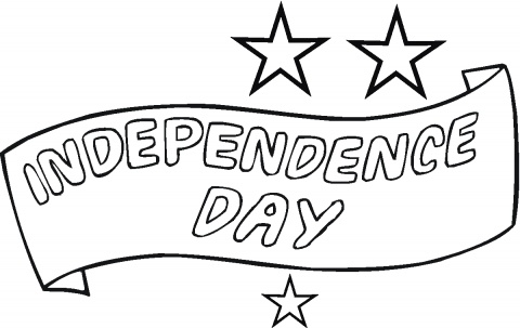 independence day pictures to color1